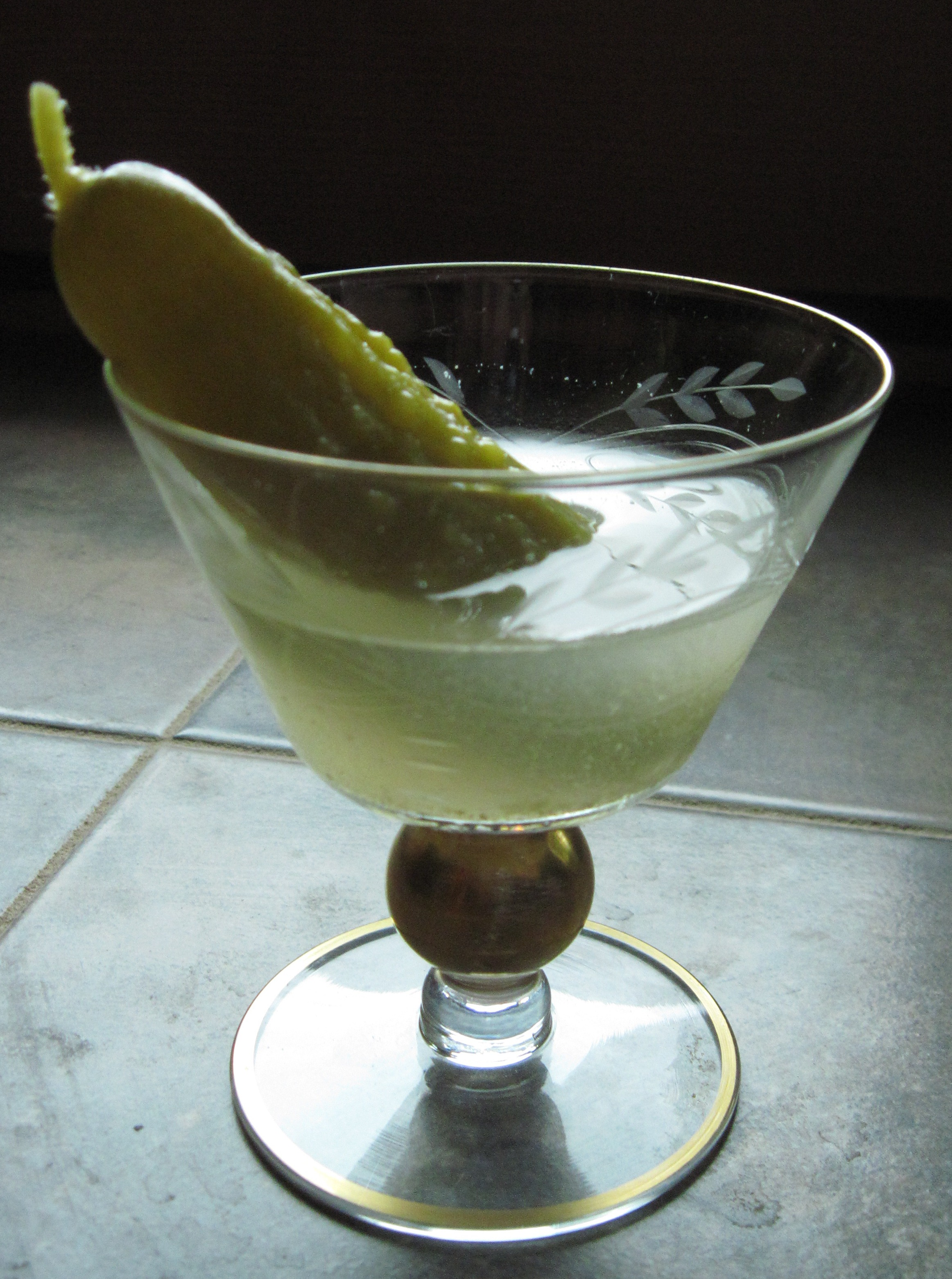 Vermouth is a type of wine that's flavored with botanicals, and can make a martini