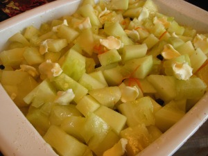 citron melon ready for oven
