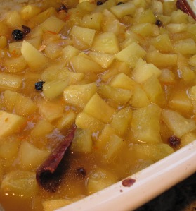 Baked citron melon compote