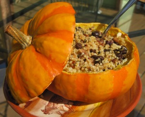 filled pumpkin
