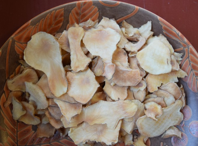 Jerusalem artichoke chips