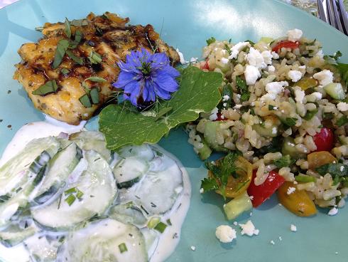 Main dish at Thyme Garden, small